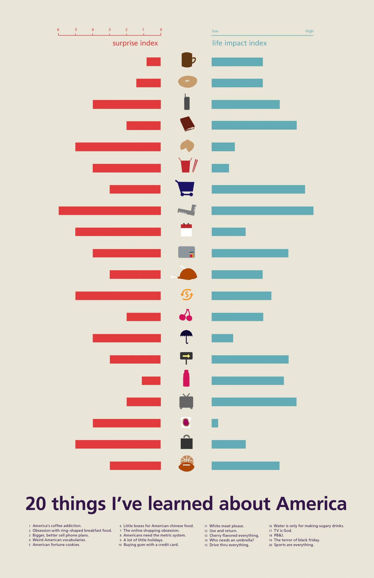 20 things I've learned about America Infographic