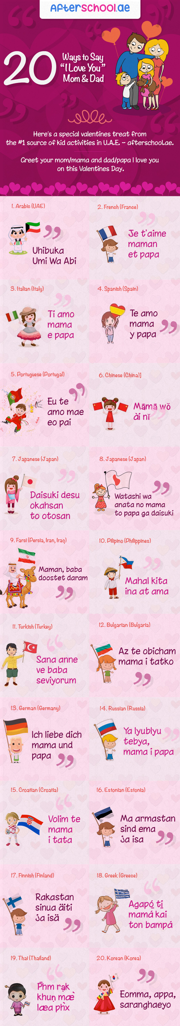 20 ways to say i love you mom dad this valentines infographic visually