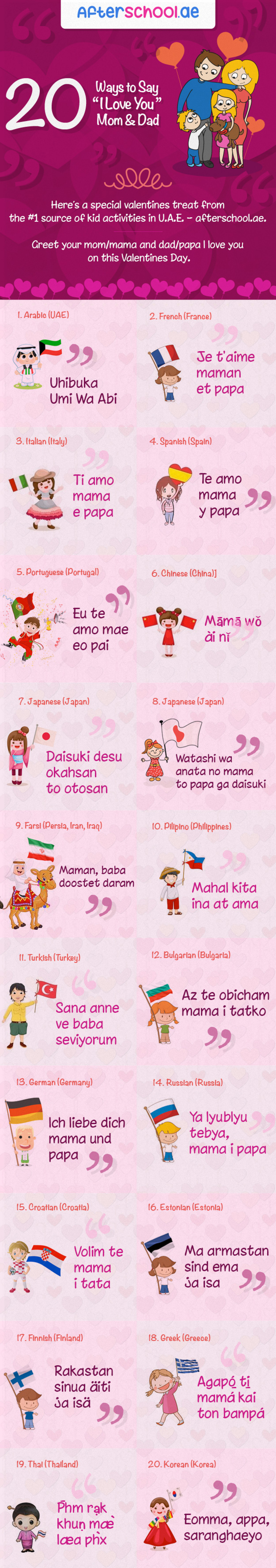20 Ways To Say I Love You Mom Dad This Valentines Infographic
