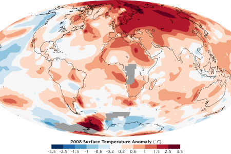 2008 Global Temperature Change Infographic
