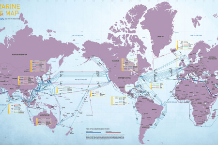 2009 Submarine Cable Map Infographic