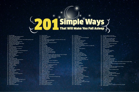 201 Simple Ways That Will Make You Fall Asleep Infographic