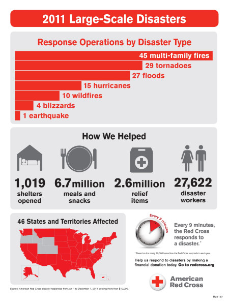 2011 Large-Scale Disasters  Infographic