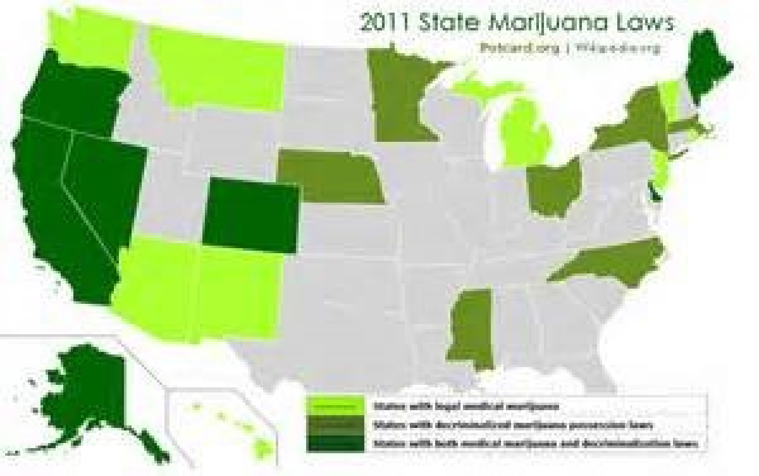 2011 Marijuana Laws Infographic