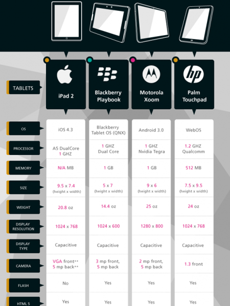 2011 Year of the Tablets  Infographic