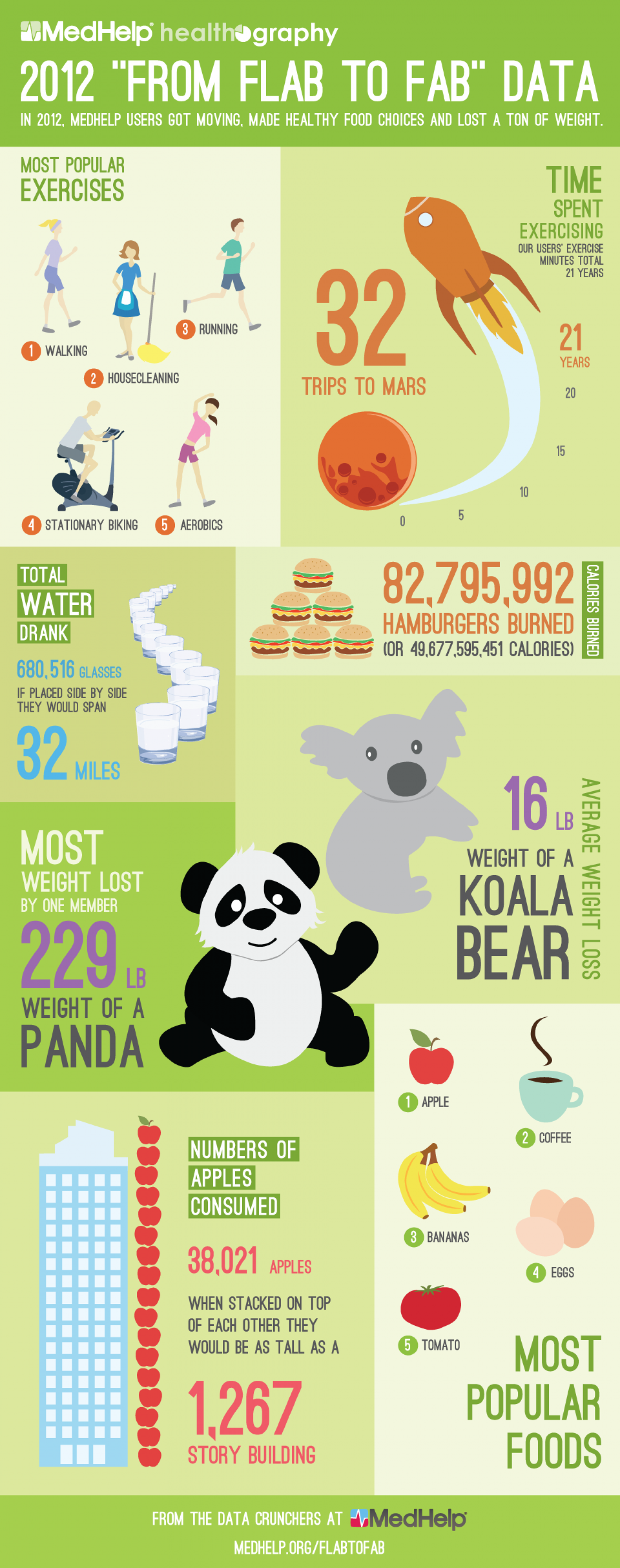 """2012 """"From Flab to Fab"""" Data Infographic"""