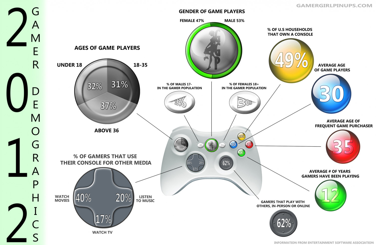 2012 Gamer Demographics Infographic