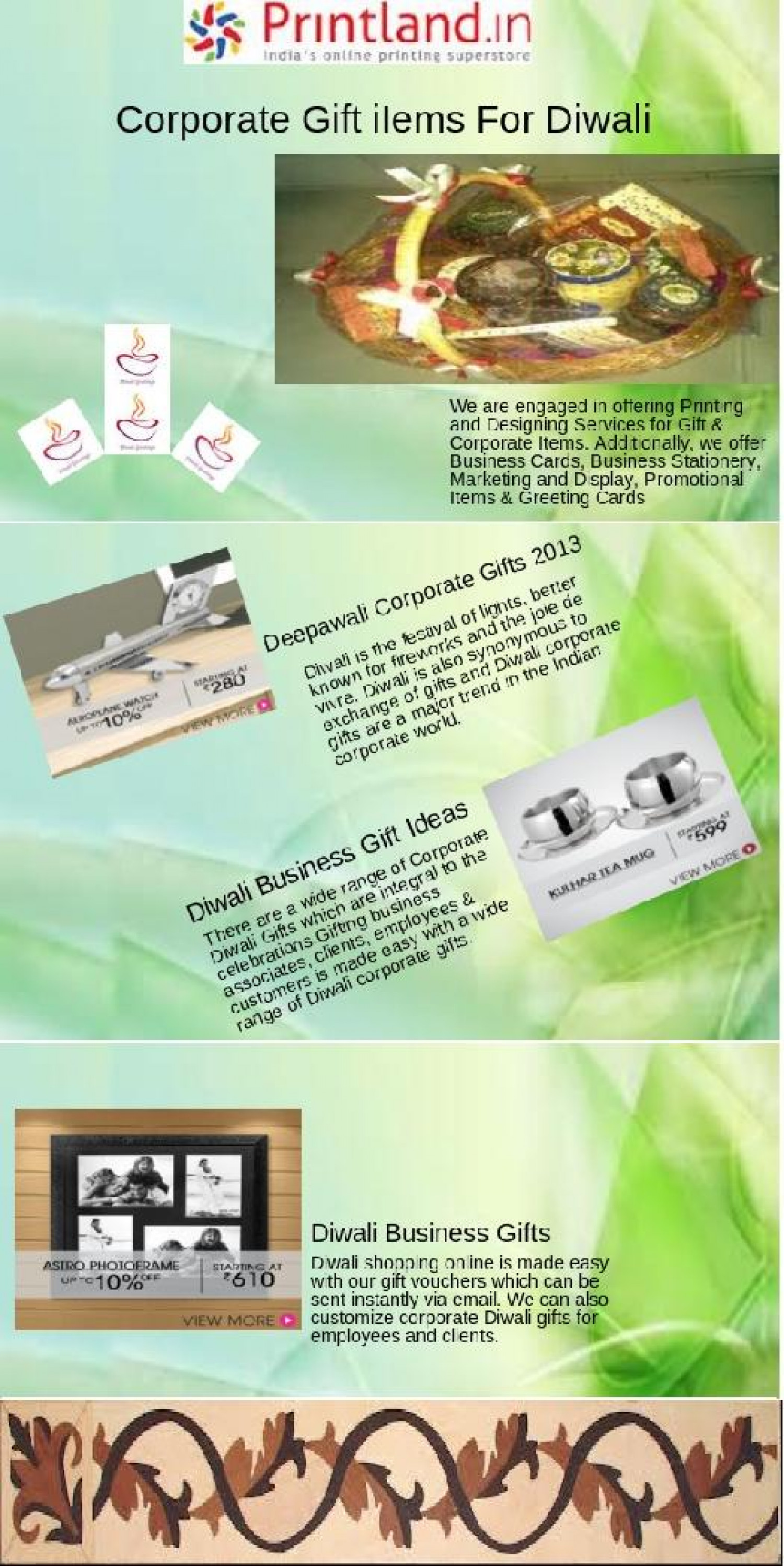 2013 business diwali gift ideas Infographic