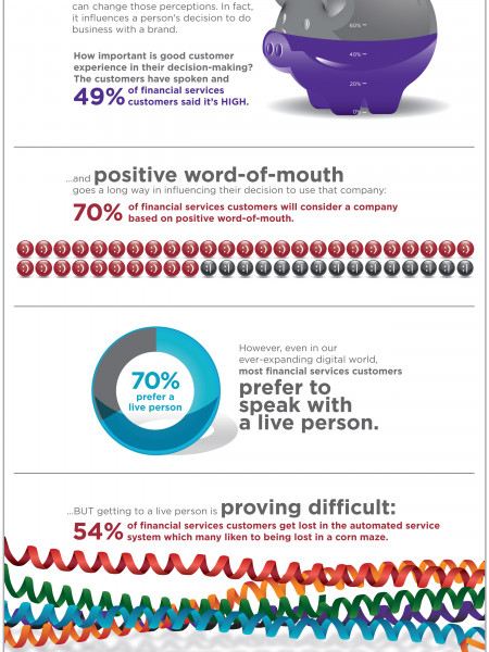 2013 TeleTech Customer Experience Expectations - Financial Services Industry Infographic