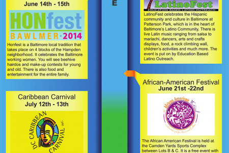 2014 Baltimore Festival Guide Infographic