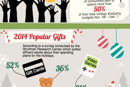 2014 Holiday Shopping Trends  Infographic