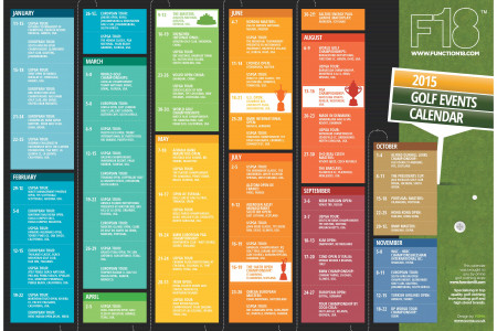 2015 Golf Events Calender  Infographic
