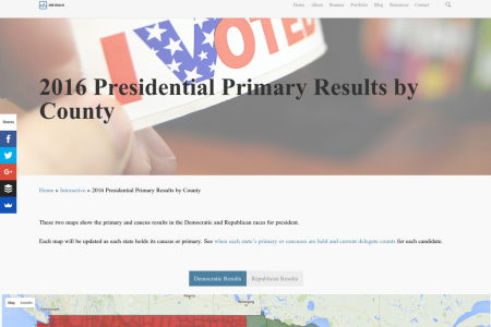 2016 Presidential Primary Results by County Infographic
