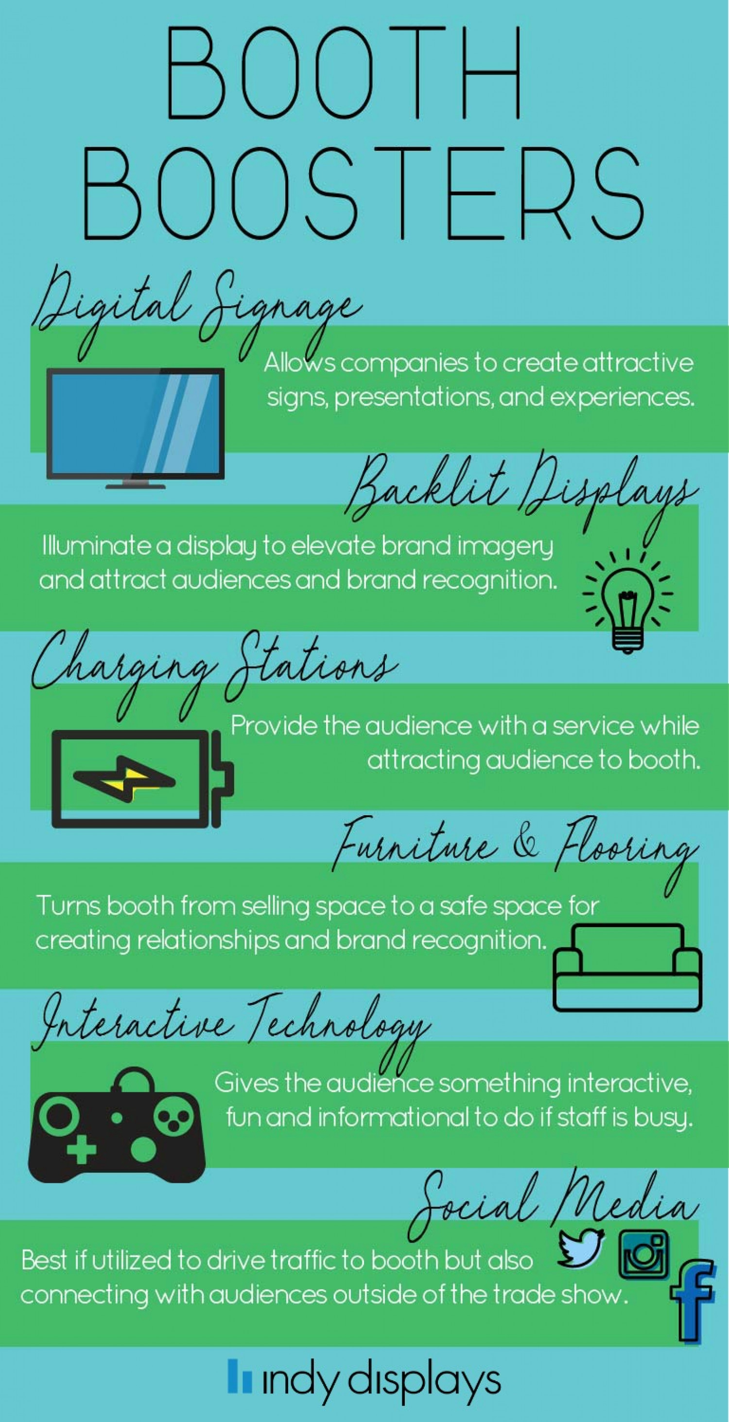 2018 Exhibition Booth Design Branding Boosters Infographic