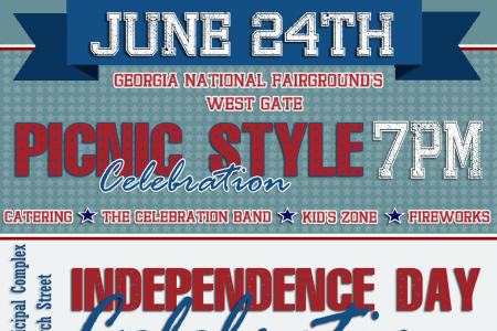 2018 Middle Georgia 4th of July Events Infographic