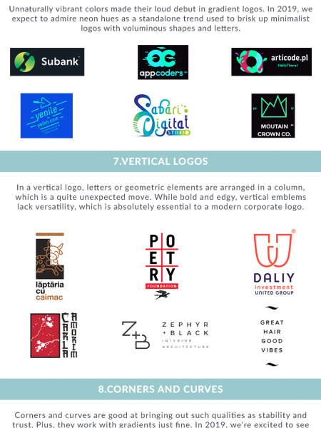2019 Top Logo Design Trends Infographic