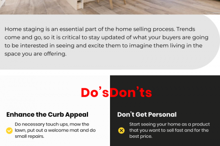 2020 Trends: 5 Home Staging Do's and Don'ts Infographic