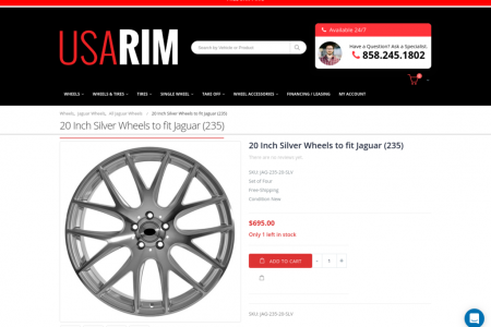 20 Inch Silver Wheels to fit Jaguar (235) Infographic