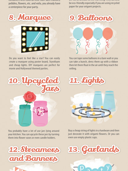 21 DIY Party Decorations (Infographic) Infographic