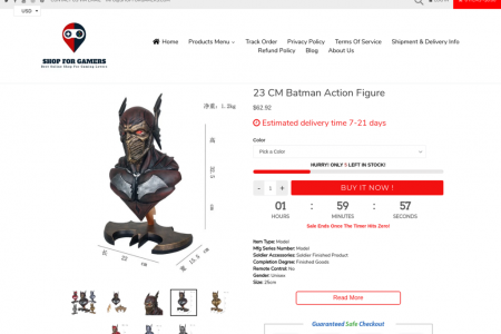23 CM Batman | Action And Toy Figures Infographic