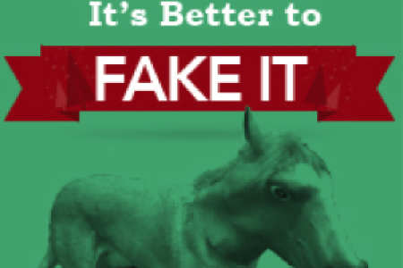 24 Times When It's Better to Fake It Infographic