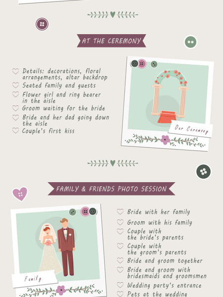 27 Must-Take Romantic Photos On Your Wedding Day Infographic