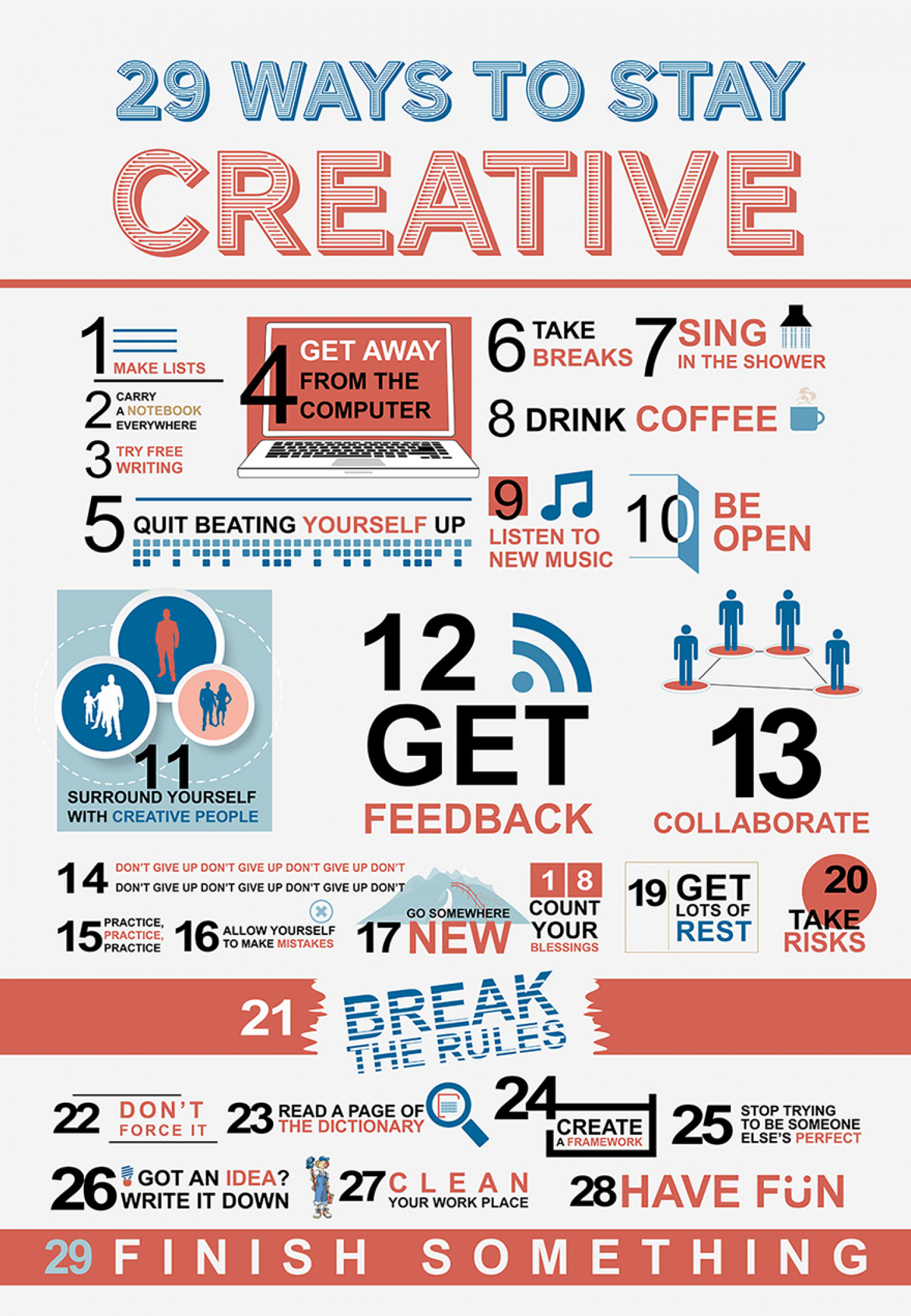29 ways to stay creative | visual.ly