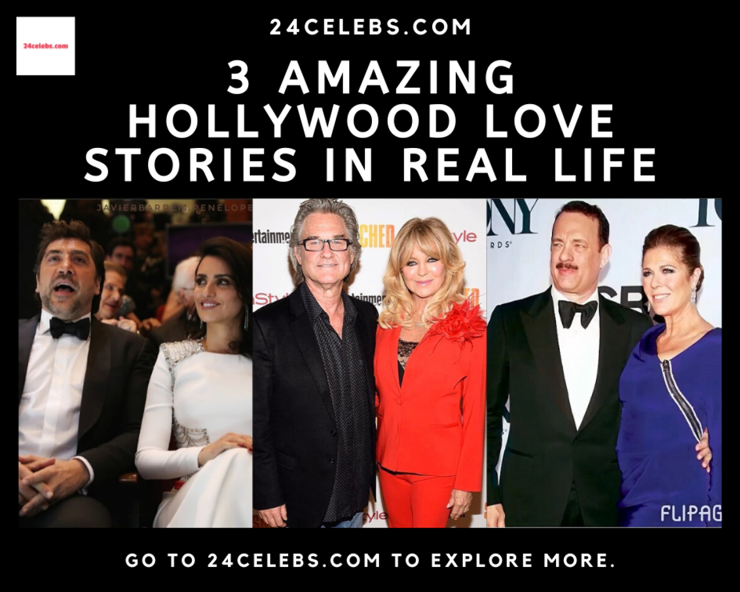 3 Amazing Hollywood Love Stories in Real Life Infographic