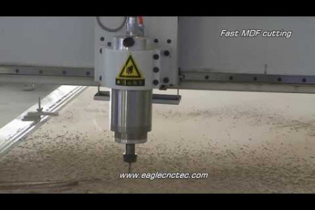 3 Axis CNC Router do Fast Cutting on MDF Sheet  Infographic