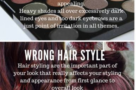 3 BLUNDERS TO RUIN HER LOOK Infographic