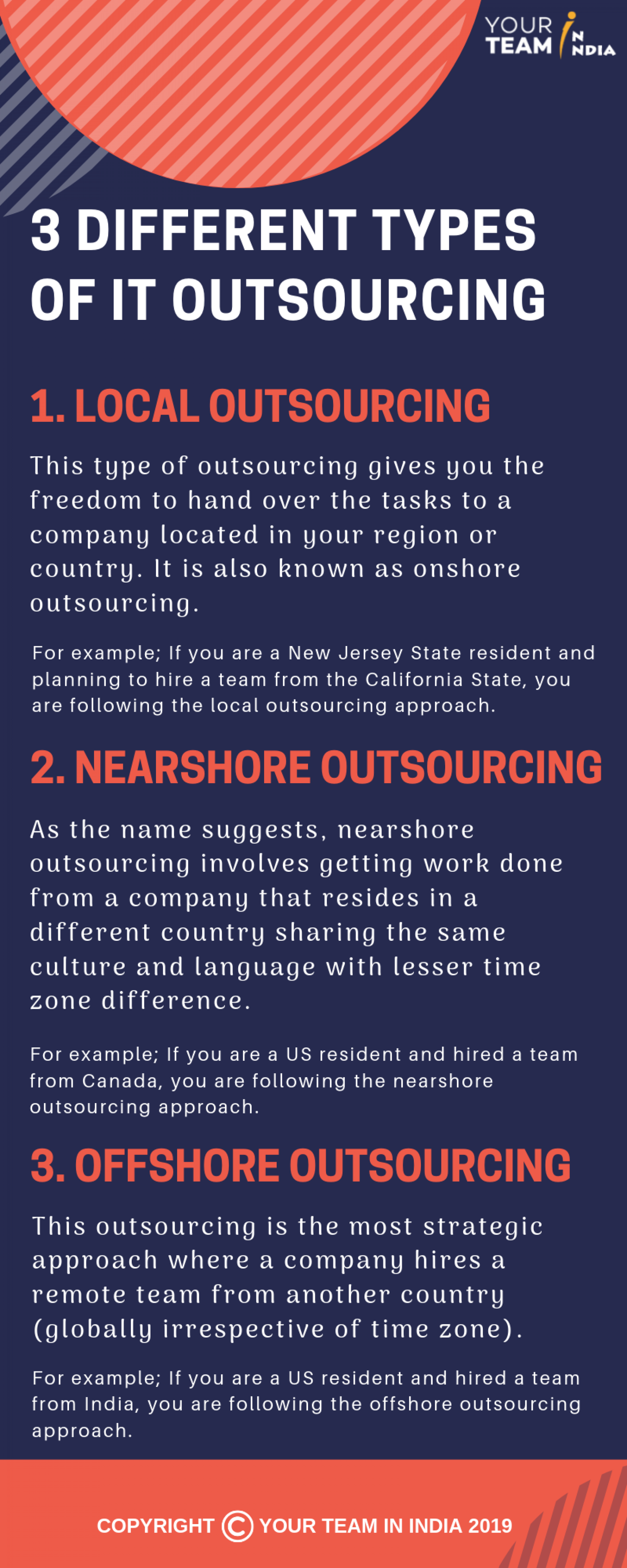 3 Different Types Of IT Outsourcing You Need To Know! Infographic