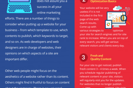 3 Important Elements Your Company Website Must Have Infographic