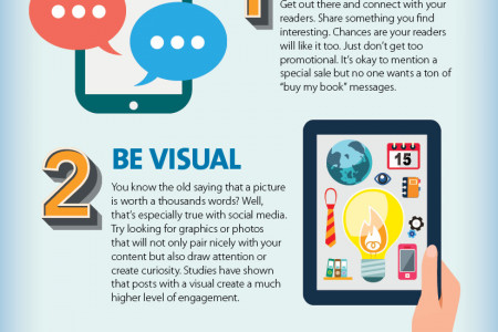 3 Quick social media tips to market your book Infographic
