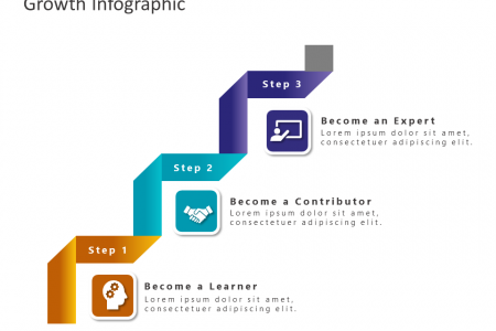 3 Step Business Stairs PowerPoint Template Infographic