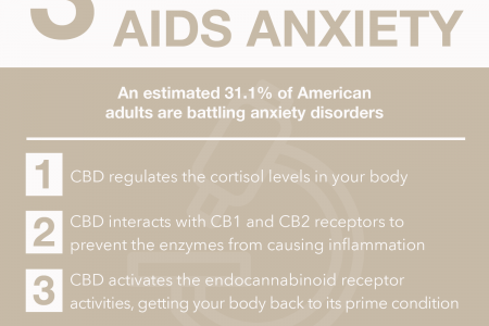 3 Ways CBD Aids Anxiety Infographic