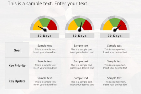 30 60 90 Day Plan PowerPoint Template Infographic