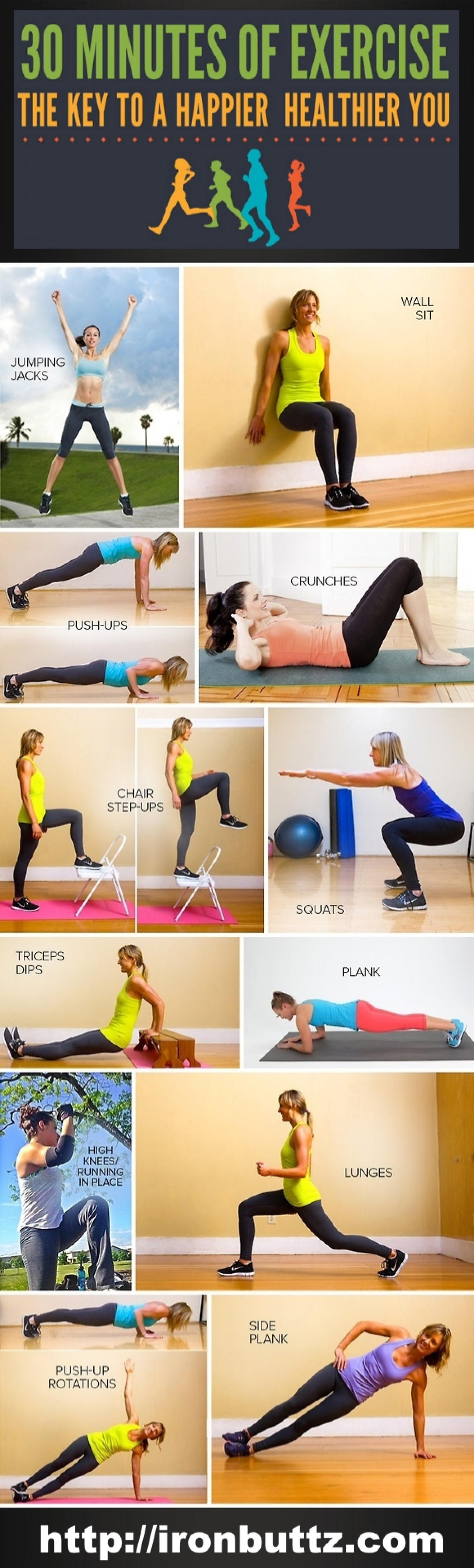 30 Minutes Of Exercise Infographic