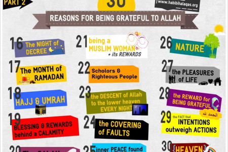 30 Resons for being grateful to Allah - Part 2 Infographic