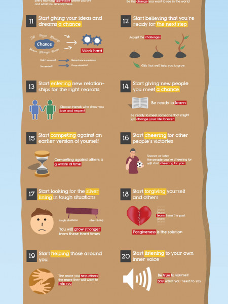 30 Things to start doing yourself Infographic