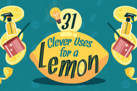 31 Clever Uses for a Lemon Infographic