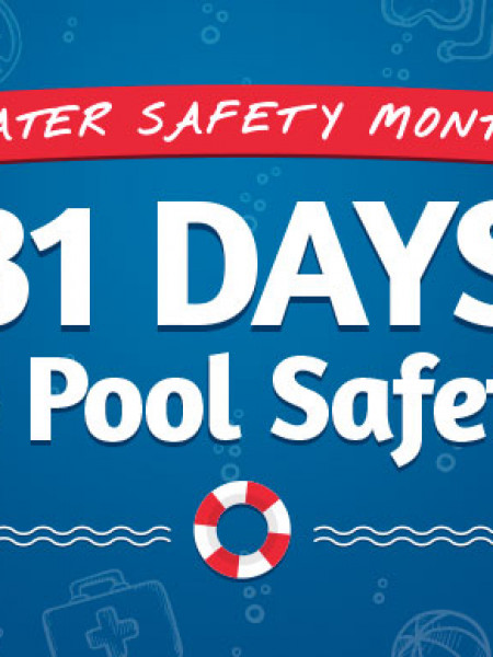 31 Days to Pool Safety #WaterSafetyMonth (May) Infographic