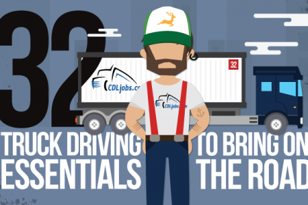 32 Truck Driving Essentials to Bring on the Road Infographic