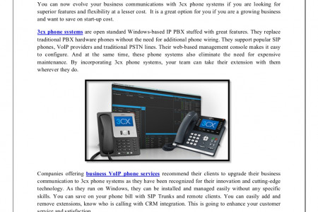 3cx Phone Systems for Better Call Management Infographic
