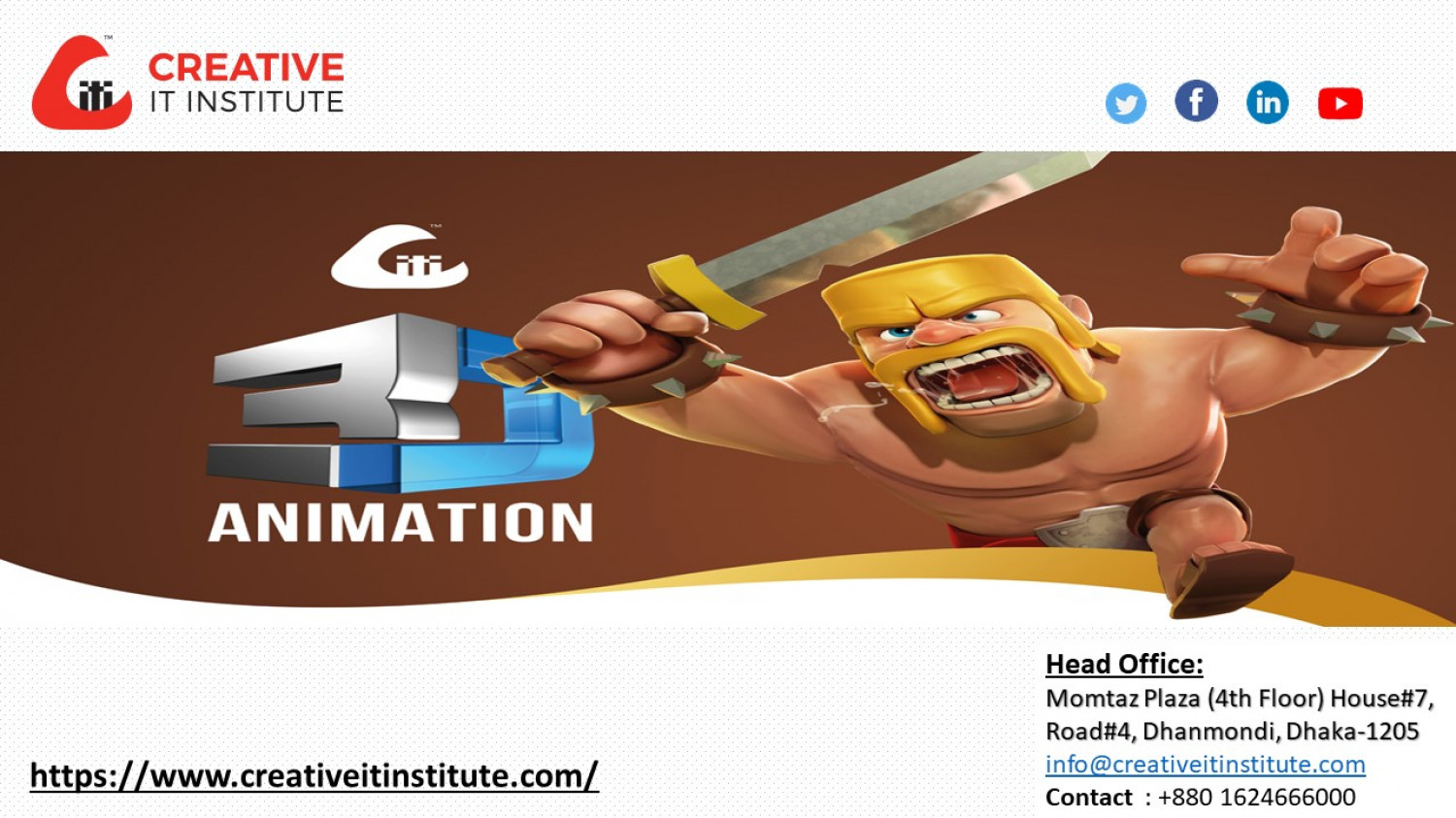 3D Animation Course Overview Infographic