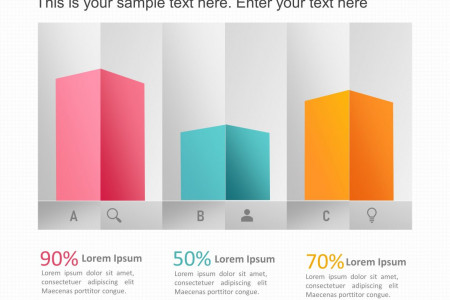3D Bar Graph PowerPoint template Infographic
