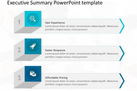 3D Benefits List PowerPoint Template Infographic