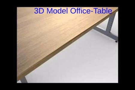 3D Model Of Office-Table. Review Infographic