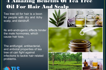 4 Amazing Benefits Of Tea Tree Oil For Hair And Scalp Infographic