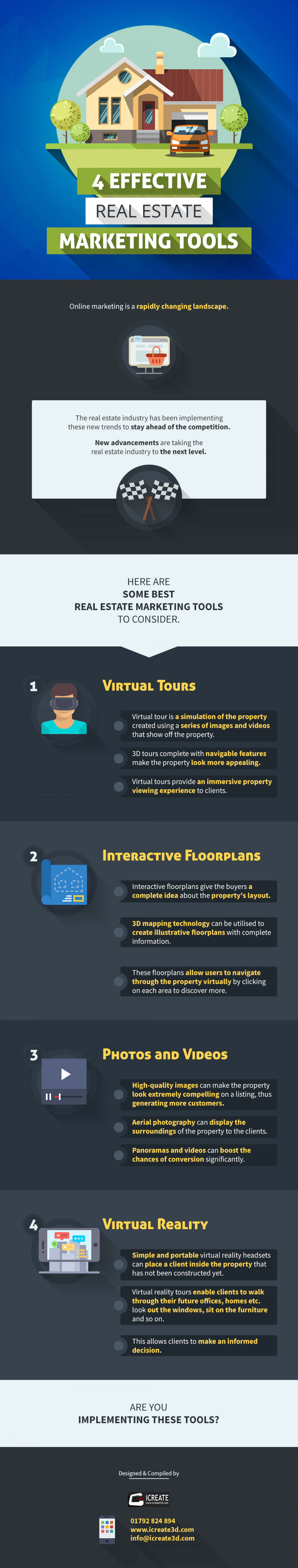 4 Effective Real Estate Marketing Tools Infographic