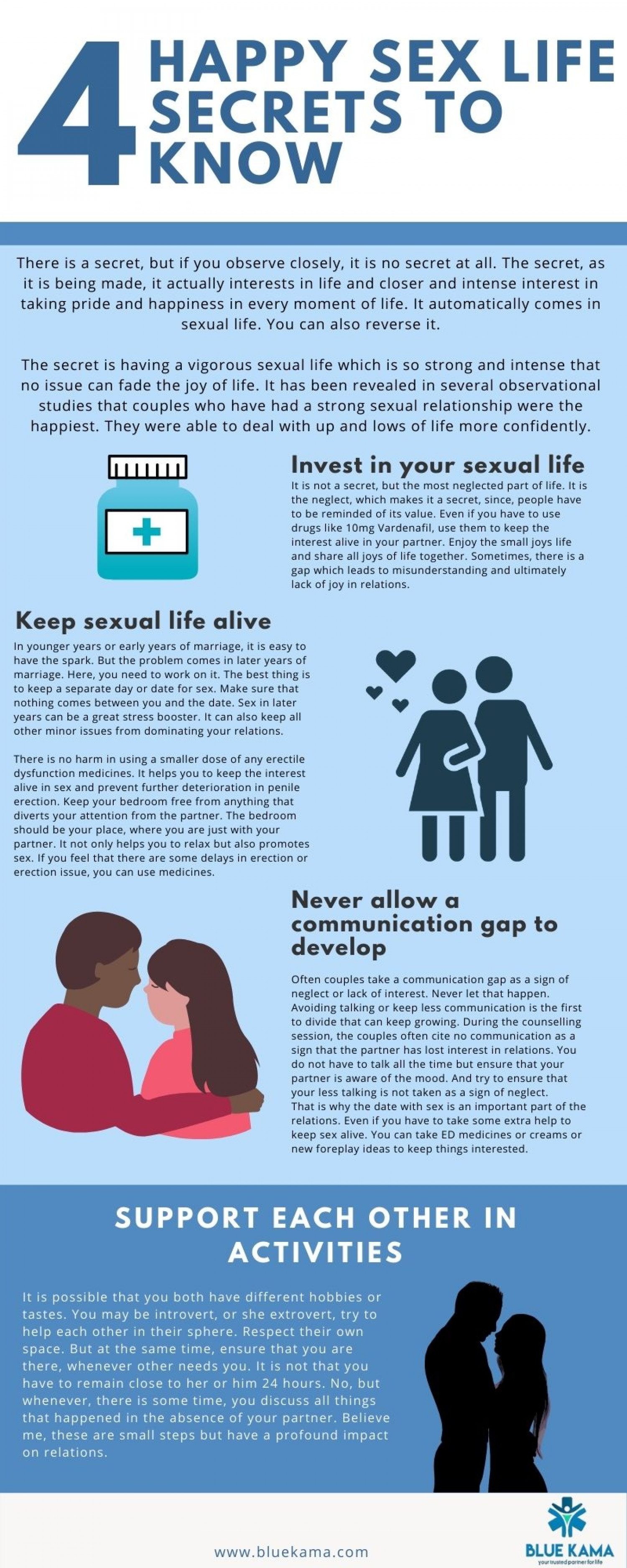 4 Happy Sex Life Secrets to Know Infographic